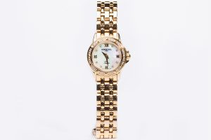 raymond weil tango gold watch